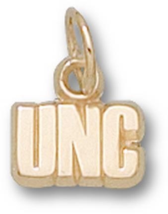 """North Carolina Tar Heels """"UNC"""" 3/16"""" Charm - 14KT Gold Jewelry"""