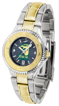 North Carolina (Wilmington) Seahawks Competitor AnoChrome Ladies Watch with Two-Tone Band