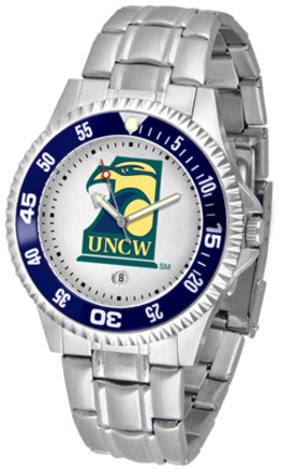 North Carolina (Wilmington) Seahawks Competitor Men's Watch with Steel Band