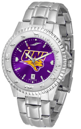 Northern Iowa Panthers Competitor AnoChrome Men's Watch with Steel Band