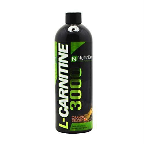 Nutrakey 6150123 Liquid L-Carnitine 3000 Nutritional Supplement Orange Delight - 31 Serving