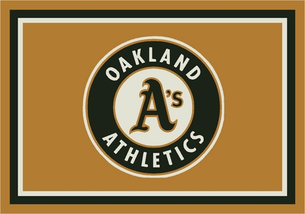 "Oakland Athletics 3'10"" x 5'4"" Team Spirit Area Rug"
