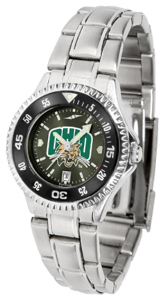 Ohio Bobcats Competitor AnoChrome Ladies Watch with Steel Band and Colored Bezel