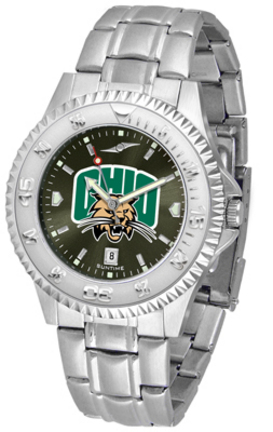Ohio Bobcats Competitor AnoChrome Men's Watch with Steel Band