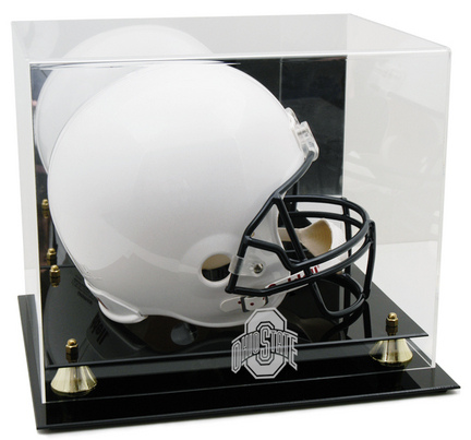 Ohio State Buckeyes Logo Golden Classic Full Size Helmet Display Case