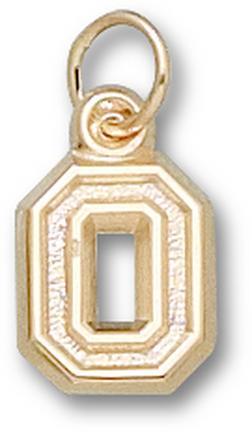 """Ohio State Buckeyes No Leaf """"O"""" 3/8"""" Charm - 14KT Gold Jewelry"""