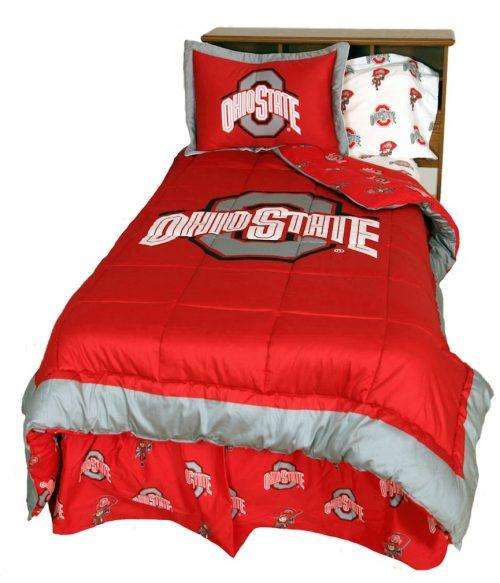 Ohio State Buckeyes Reversible Comforter Set (Queen)