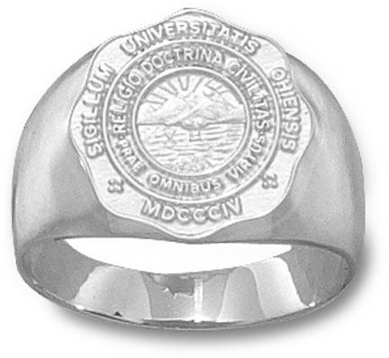 """Ohio University Bobcats """"Seal"""" Men's Ring Size 10 - Sterling Silver Jewelry"""