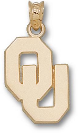"Oklahoma Sooners 5/8"" ""OU"" Pendant - 10KT Gold Jewelry"