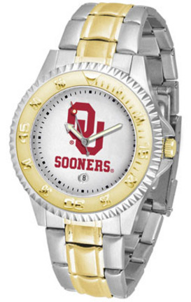 Oklahoma Sooners Competitor Two Tone Watch