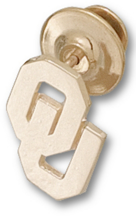 """Oklahoma Sooners New """"OU"""" 5/8"""" Lapel Pin - 10KT Gold Jewelry"""