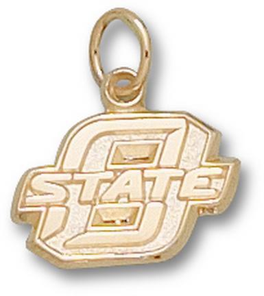 "Oklahoma State Cowboys 3/8"" Block ""O"" Charm - 10KT Gold Jewelry"