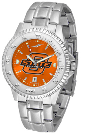Oklahoma State Cowboys Competitor AnoChrome Men's Watch with Steel Band