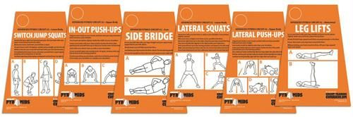 Olympia Sports CO142P Circuit Training Cards - Advanced Fitness No. 2