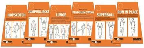 Olympia Sports CO144P Circuit Training Cards - Aerobic No. 2