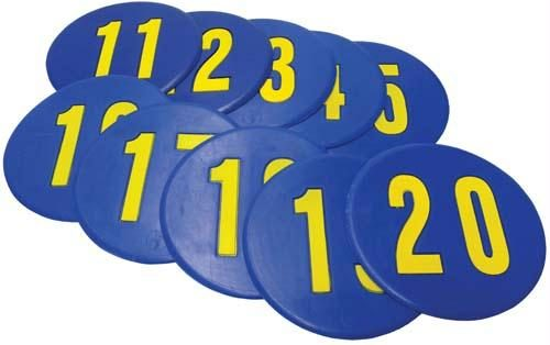 Olympia Sports GE491P Numbered Poly Spots No. 11-20