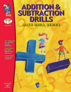 On The Mark Press OTM1131 Addition & Subtraction Drills 1-3