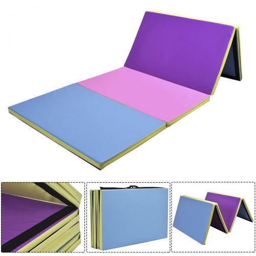 Online Gym Shop CB17015 Gymnastics Tumbling & Martial Arts Folding Mat 4 x 10 ft. x 2 in. - Multi Color