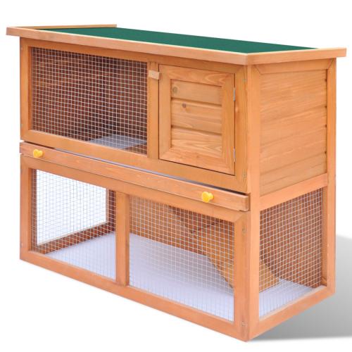 Online Gym Shop CB17591 Outdoor Wooden Chicken Coop Rabbit Hutch Small Animal House Pet Cage 1 Door - 36 in.