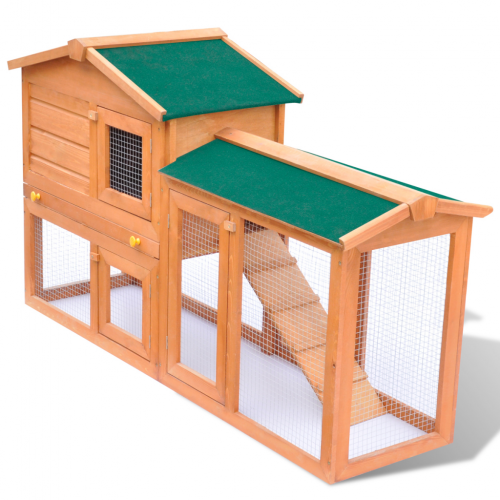 Online Gym Shop CB17595 Outdoor Wooden Large Chicken Coop Rabbit Hutch Small Animal House Pet Cage - 55 in.