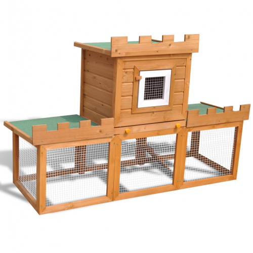 Online Gym Shop CB17602 Outdoor Chicken Coop Rabbit Hutch House Pet Cage Single House - 56 in. & Large
