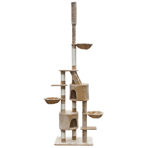 Online Gym Shop CB17642 Cat Tree Cuddles Plush Beige - 90 - 102 in. & Extra Large