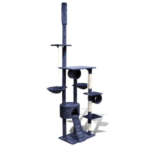 Online Gym Shop CB17664 Cat Tree Scratching Post 1 Condo Dark Blue - 87 - 94 in.