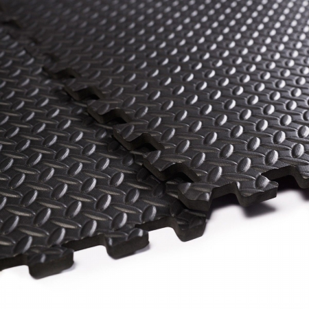 OnlineGymShop CB16558 EVA Interlocking Foam Flooring Tiles Mats Black - 48 Sq. ft.