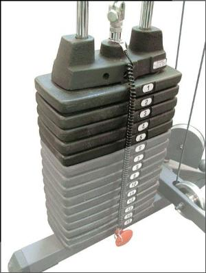 Optional 50 lb Weight Stack for P1X or G8I