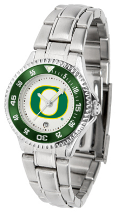 Oregon Ducks Competitor Ladies Watch with Steel Band