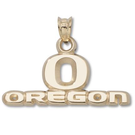 "Oregon Ducks ""O Oregon"" 7/16"" Pendant - 10KT Gold Jewelry"