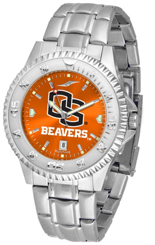 Oregon State Beavers Competitor AnoChrome Men's Watch with Steel Band