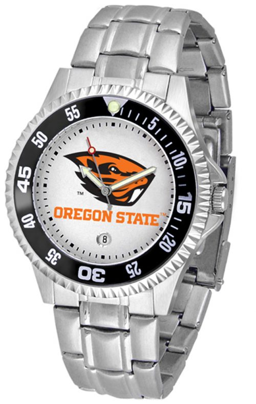 Oregon State Beavers Competitor Men's Watch with Steel Band