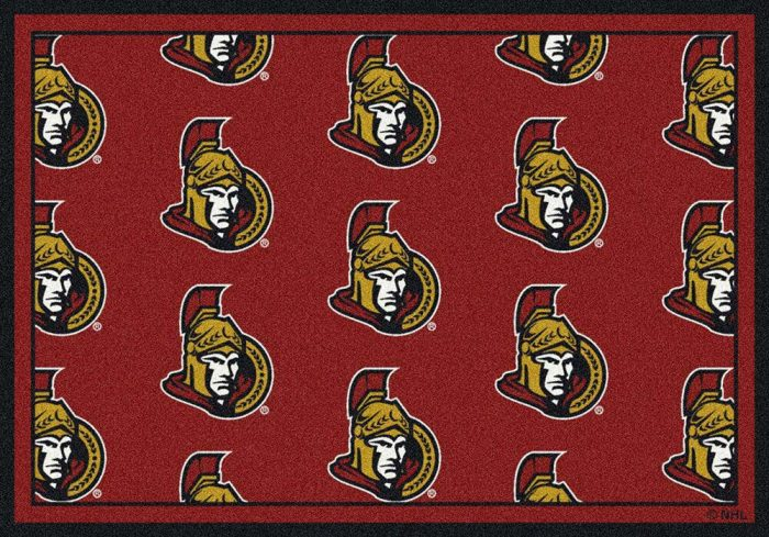 "Ottawa Senators 2' 1"" x 7' 8"" Team Repeat Area Rug Runner"