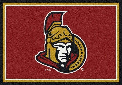 "Ottawa Senators 3' 10"" x 5' 4"" Team Spirit Area Rug"