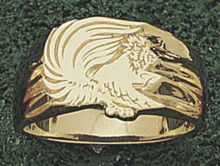 """Oxnard College Condors """"Seal"""" 5/8"""" Men's Ring Size 11 - Sterling Silver Jewelry"""