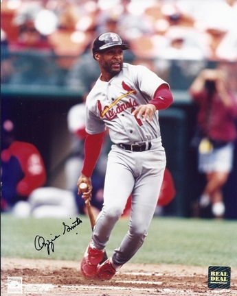 """Ozzie Smith Autographed St. Louis Cardinals 8"""" x 10"""" Photograph 1982 World Series Champs 2002 Hall of Fame (Unframed)"""