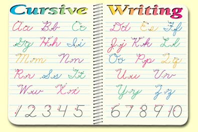Painless Learning CUR-1 Cursive Writing Placemat