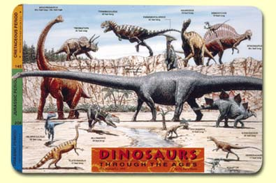Painless Learning DIN-1 Dinosaurs Placemat