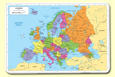 Painless Learning EUR-1 Europe Placemat