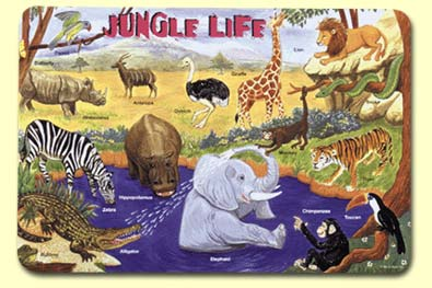 Painless Learning JAN- Jungle Life Placemat