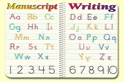 Painless Learning MAN-1 Manuscript Writing Placemat