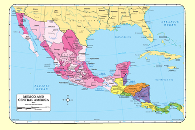 Painless Learning MEX-1 Mexico Placemat