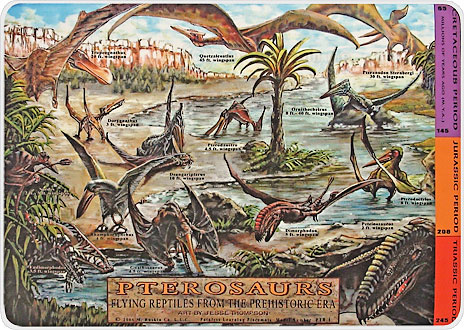 Painless Learning PTR-1 Pterosaurs Placemat