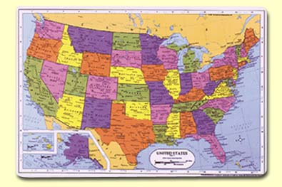 Painless Learning SSR-1 U.S. Placemat