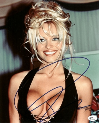 """Pam Anderson Autographed 8"""" x 10"""" Photograph (Unframed)"""