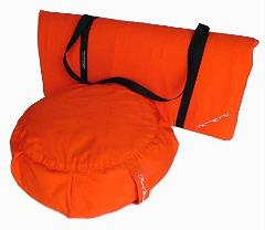 Peach Blossom Yoga 11003-A6 Yoga Studio Set -Zafu-Zabuton Set With Stap - A6 Orange