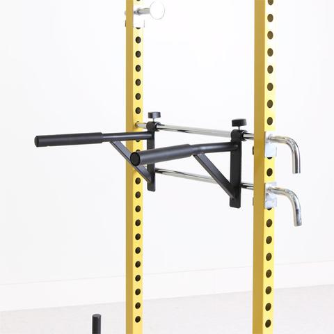 Penn Fitness Warehouse FIT-4728 Dip Attachment for Power Rack Accessory - Black & Yellow