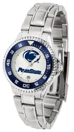 Penn State Nittany Lions Competitor Ladies Watch with Steel Band