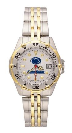 "Penn State Nittany Lions ""Penn State with Lion Head"" All Star Watch with Stainless Steel Band - Women's"